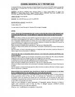 CONSEIL MUNICIPAL 2020.02.17